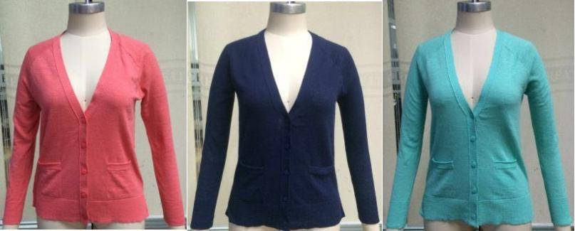 So brand stocklot on sales: 50,000pcs Juniors 100%cotton cardigan sweaters with hanger,12GG TC1-698