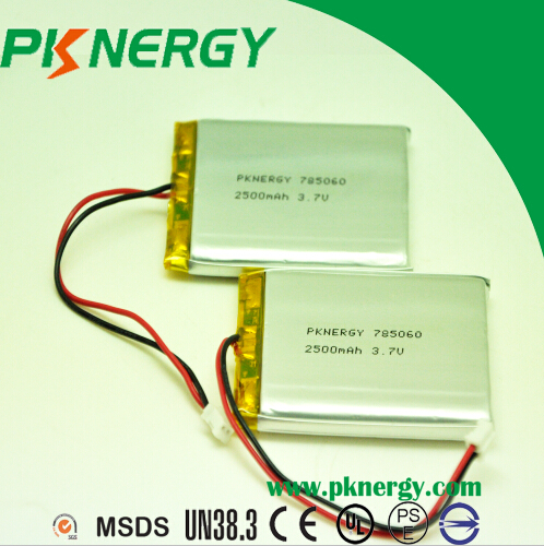 3.7V 2500mAh Lithium Polymer Battery 785060 Batteries Cell for Digital Products Battery