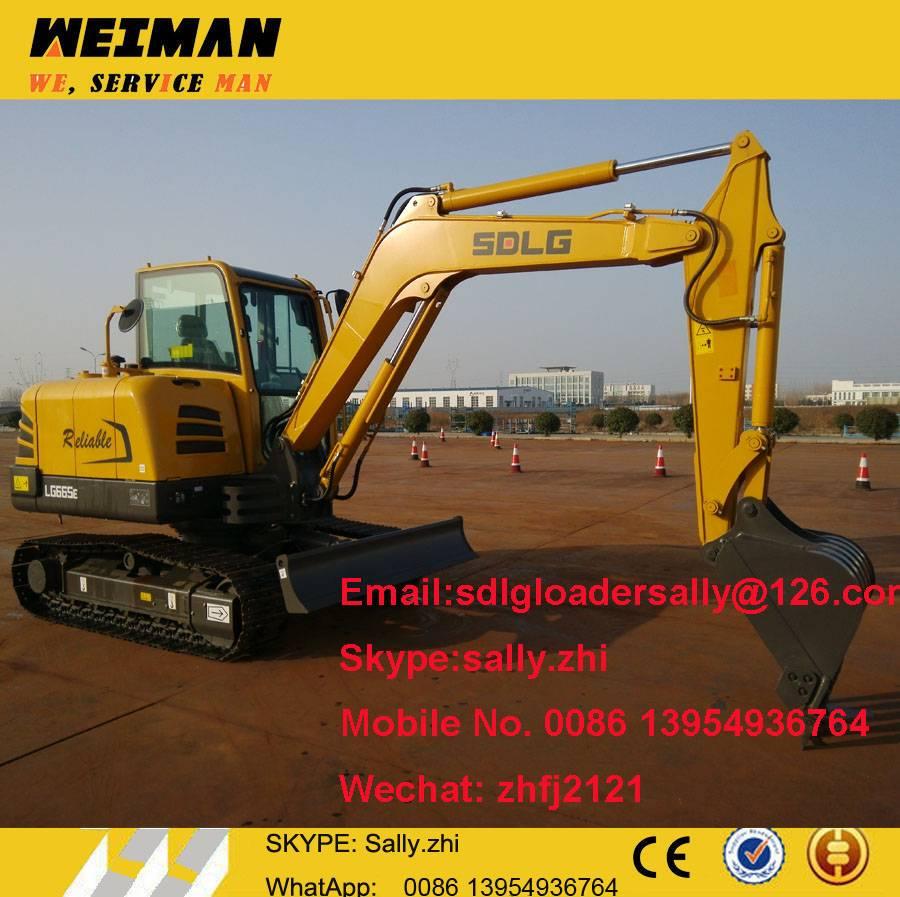 SDLG mini excavator LG665E, mini excavator, machines