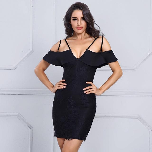 Bandage 2017 Sexy V Neck Strap Mini Dress
