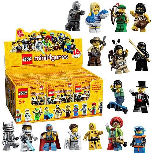 Original Lego Box/Case of 60 MINIFIGURES SERIES 1 8683
