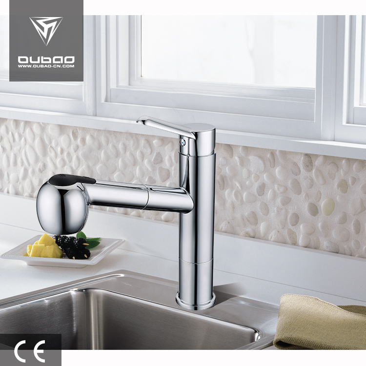 New design two function durable chrome finish faucet basin mixer kitchen faucet