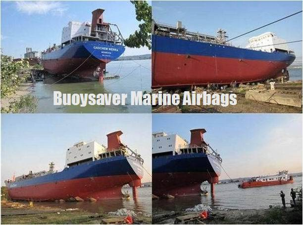 "Buoysaver Marine Airbags help Romania Shipyard launch the Ship MT ""GASCHEM VERRA"""