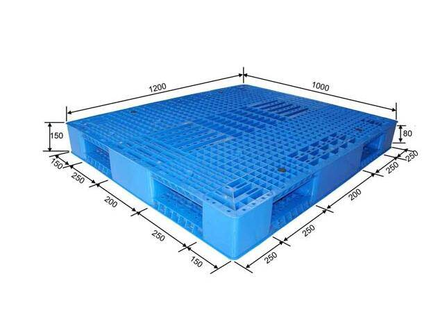 Double sided perforated plastic pallet 1200X1000X150mm