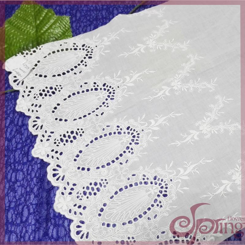 exquisite Cotton embroidered fabric