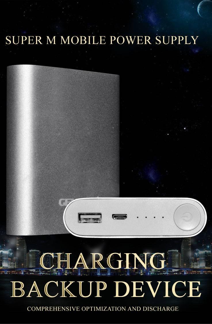 2015 GENAI high quality E100 110000mAh Power Bank Dual USB External Battery Charger universal sellin