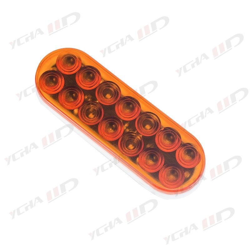 """LED trailer 6"""" Oval Stop/Parking/Turn Signals/Tail Light amber"""