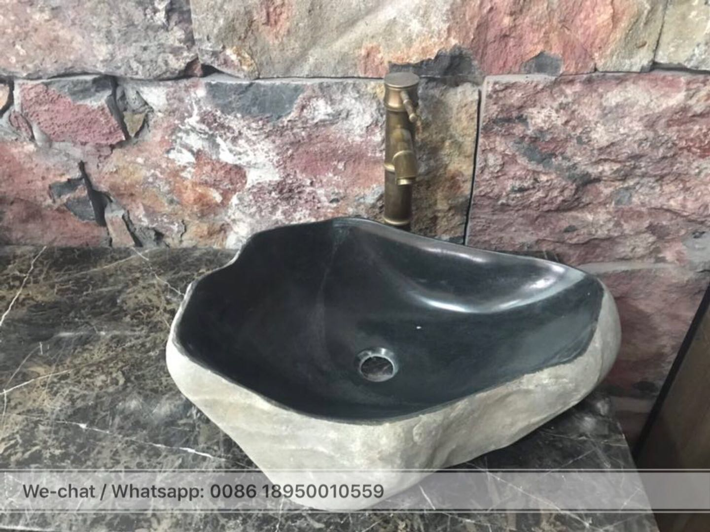 Black River Stone Bathroom Sinks Wash Basin