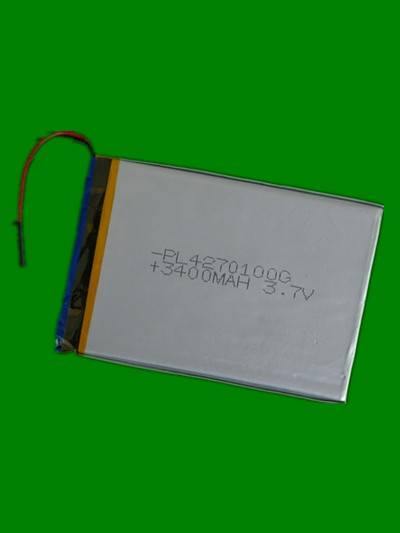 3.7V 3400mah 4270100 lithium polymer battery for MID
