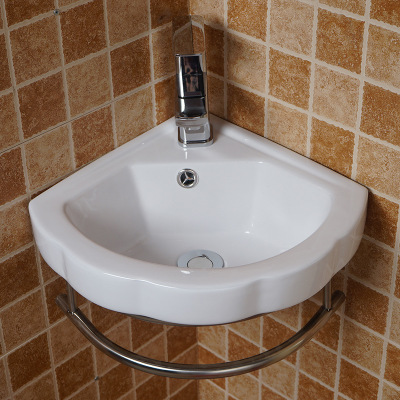 China Supplier good sale one piece wall hung hand sink