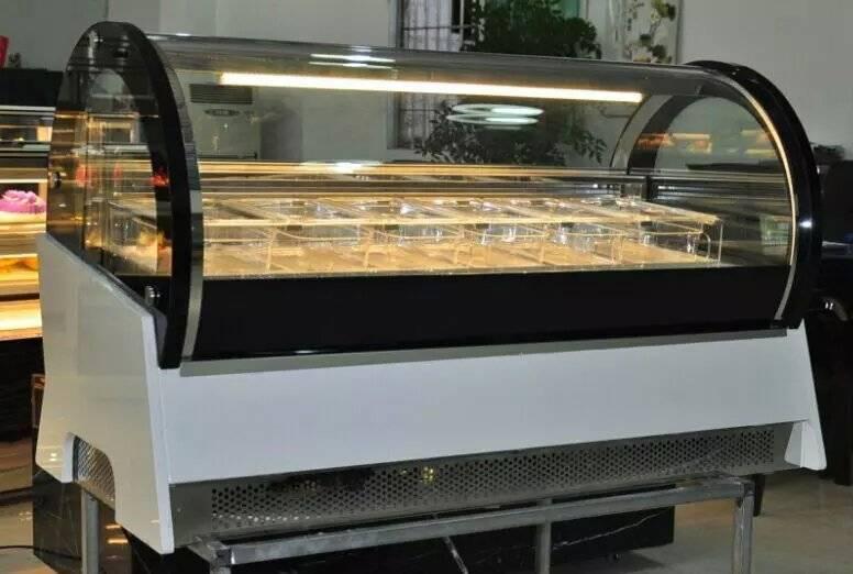 new Semi-circular/Half-moon type ice cream freezer showcase