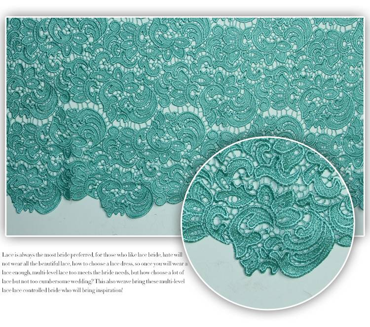 High quality african lace fabric for clothing