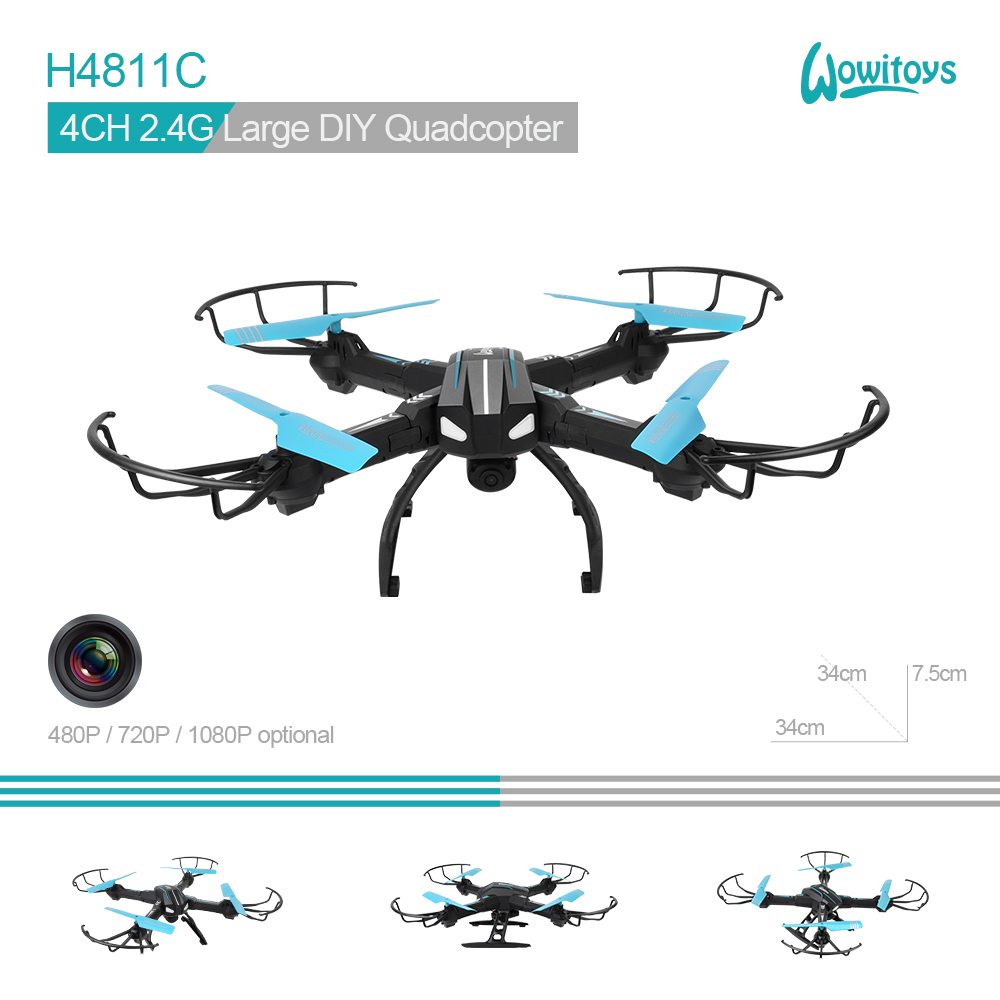 WiFi Large DIY drone with HD camera flying drone and diy quadcopter with camera