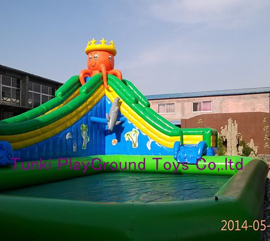 pool slide aqua inflatable iceberg water climbing water park
