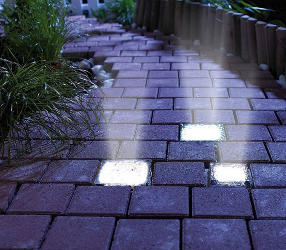 eco friendly solar led brick light IP65 small type landscape lighting