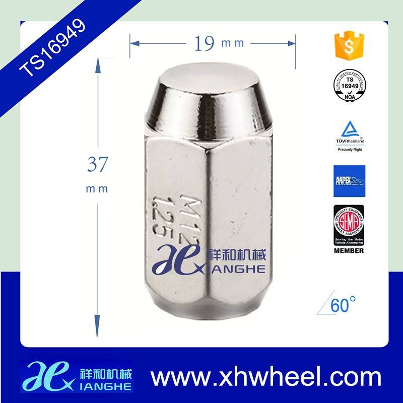 Auto wheel nut and Racing wheel lug nut Color wheel nut/12.00mm*1.50 from Xianghe Machinery Manufact