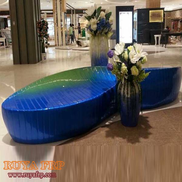 Commercial public area waiting chair,fiberglass leisure furniture for shopping mall decoration