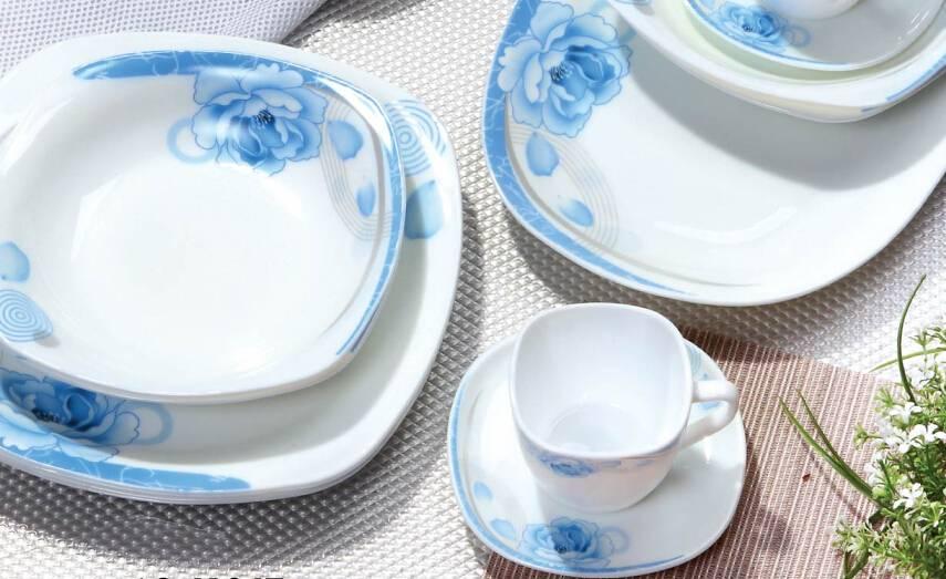 24PCS Tableware Set Opal Glass Microwave Safe