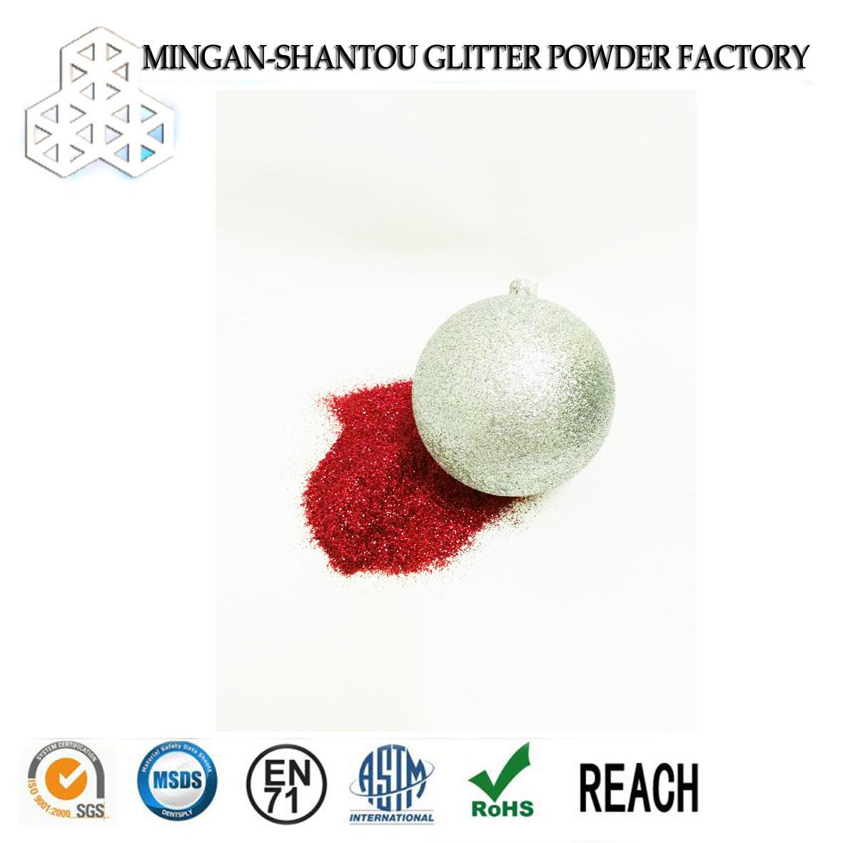 2017 Top 10 sale laser PET glitter powder for shoes