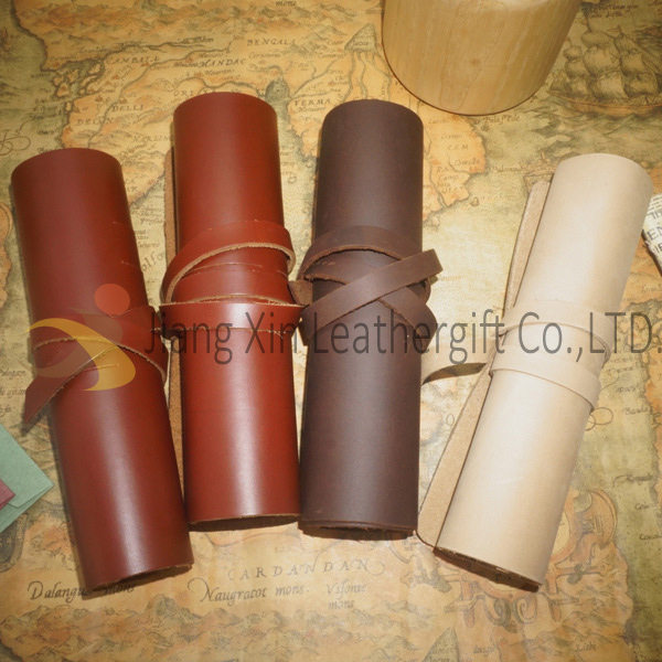 Genuine Leather Roll Up Bag for Phone and Digital