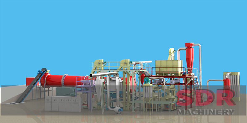Shindery wood pellet making line with customized capacity