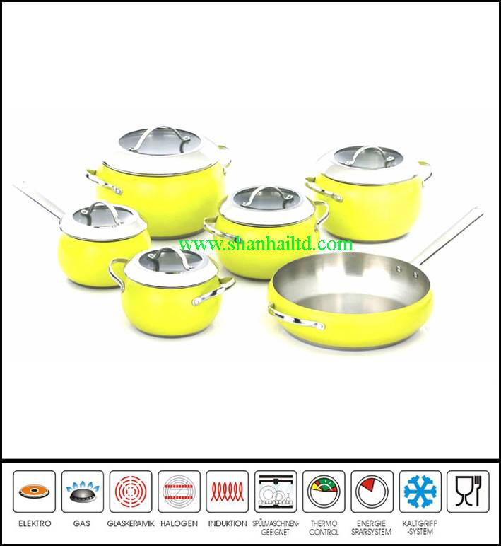 12Pcs Stainless steel apple cookware set Sc873