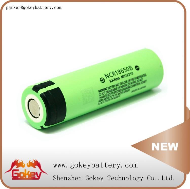 Panasonic NCR18650B 3400mah 3.7v 2C li-ion 18650 battery in battery storage