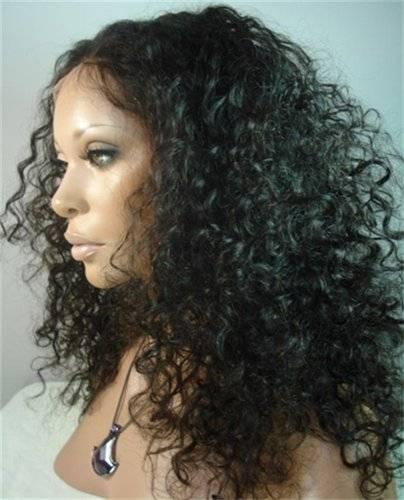 hot sale wholesale curly Brazilian 100% raw virgin human hair full lace wig