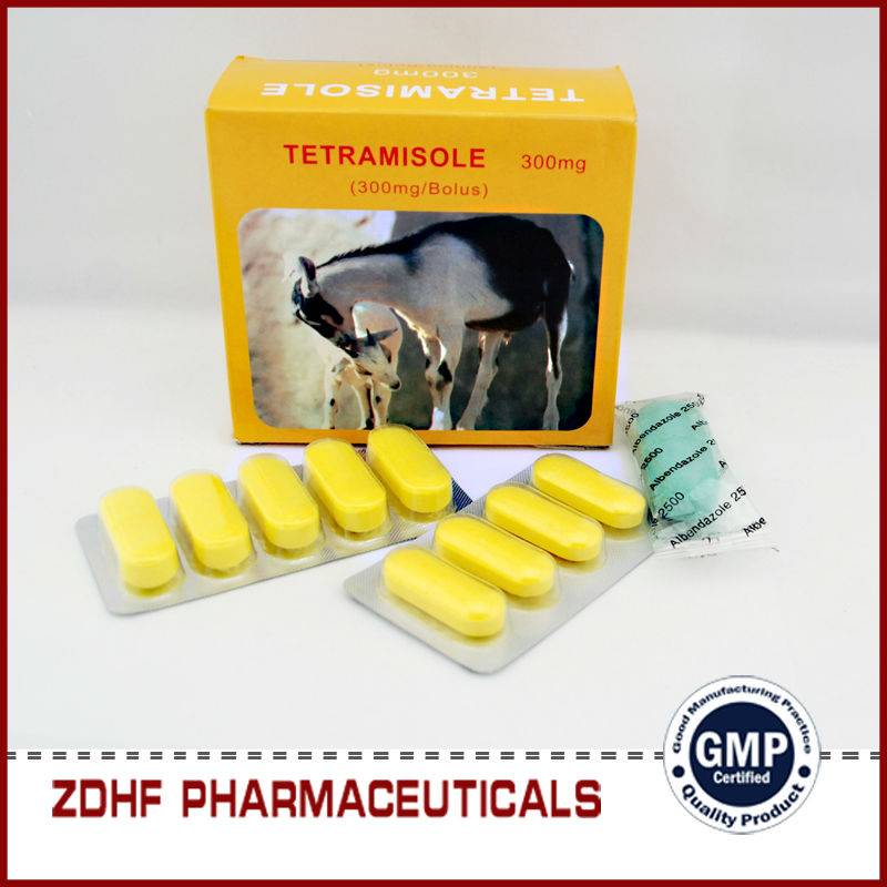 Veterinary deworming drugs tetramisole bolus for cattles sheep