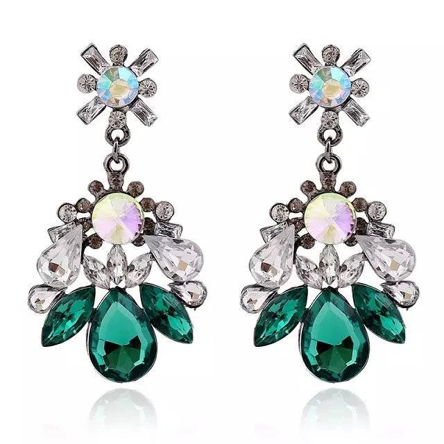 Vintage Gemstone Drop Earring For Women