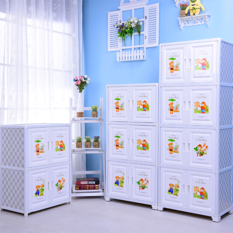 Home daily plastic cartoon wardrobe