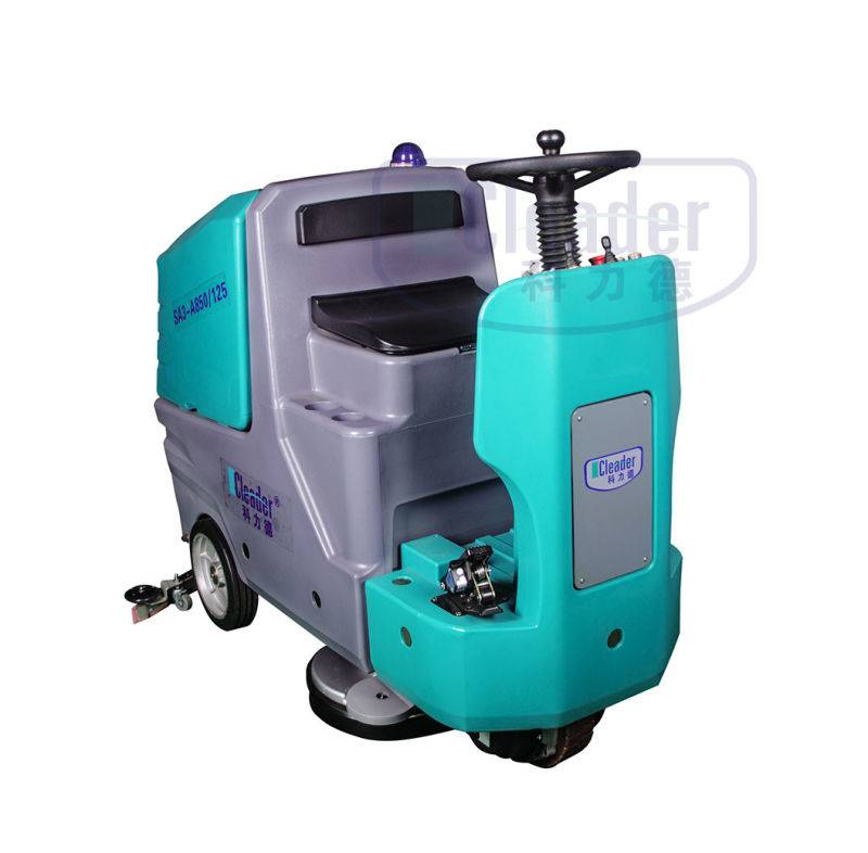 fully automatic driving type floor scrubber