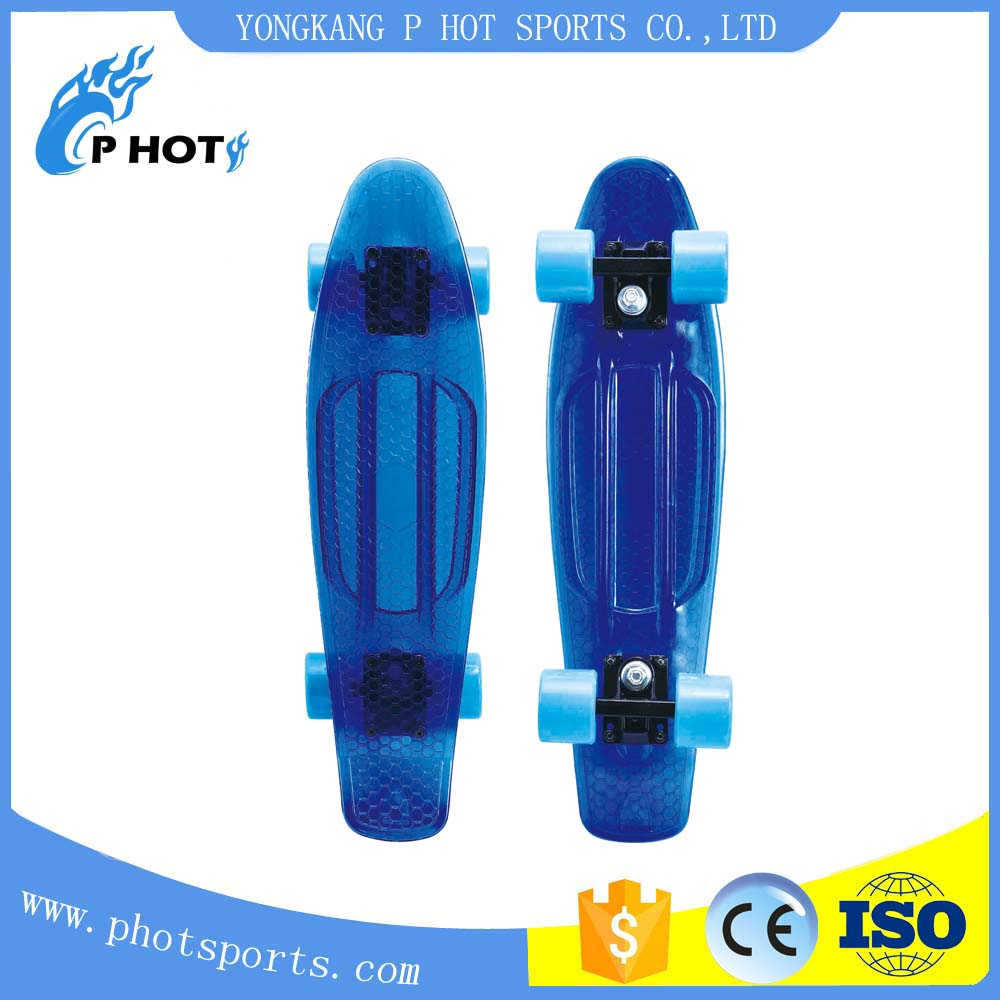 transparent pp board customized color plastic skateboard for sale