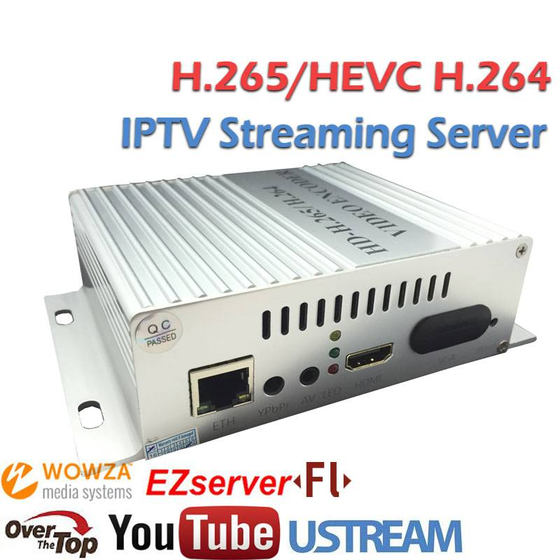 HEVC H.265 Encoder for RTSP HTTP IP Video Audio Sreaming with Wowza Server FMS Server