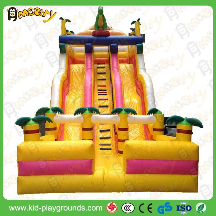 Kids inflatable jumping slide game for garden playing