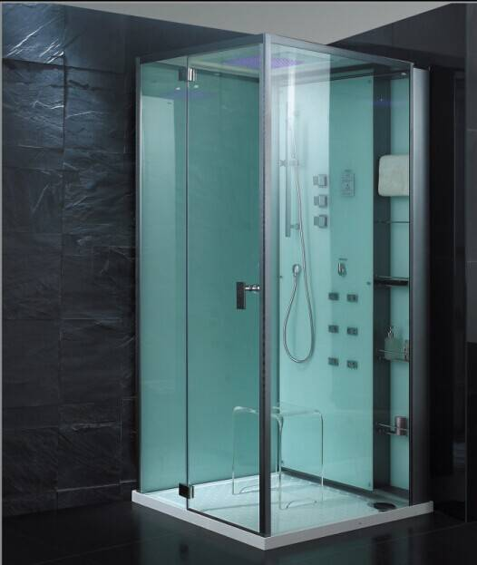 Low shower tray Steam room white panel Steam shower house/Steam roomSteam Cabin