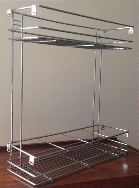1301005 Pull out Wire Basket (2 Tier)