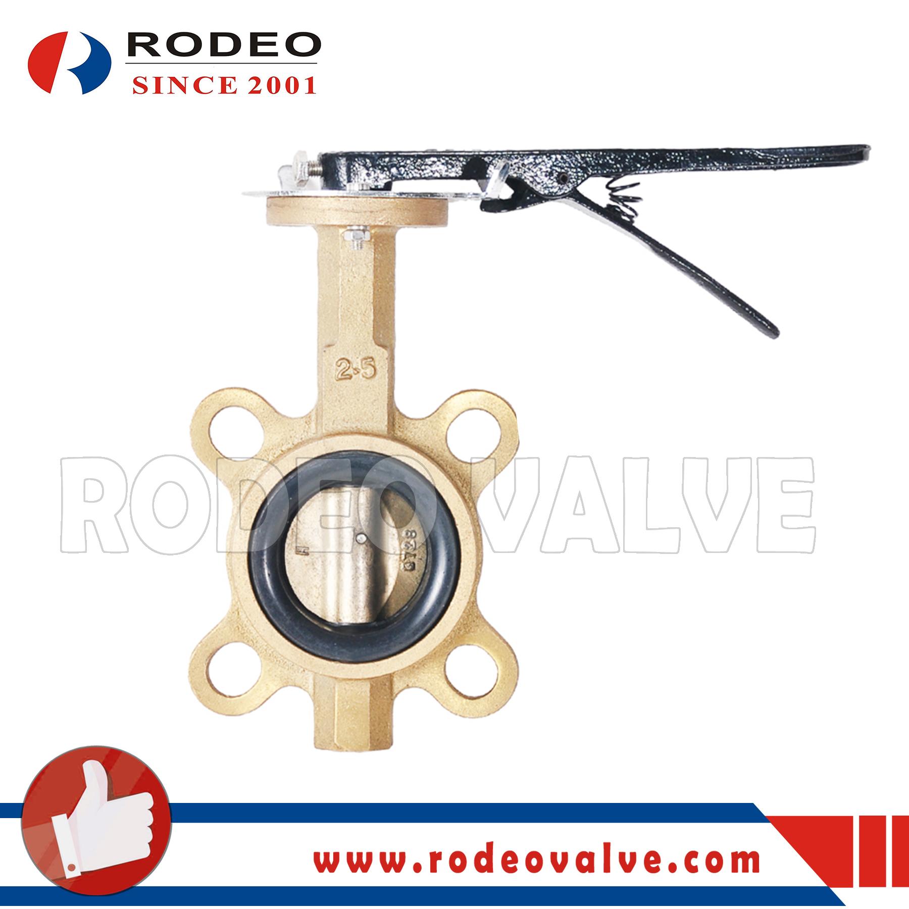 Bronze wafer butterfly valve