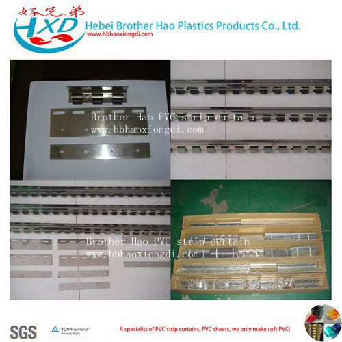 S.S201 Stainless Steel Rails and Clips for PVC Strip Curtian