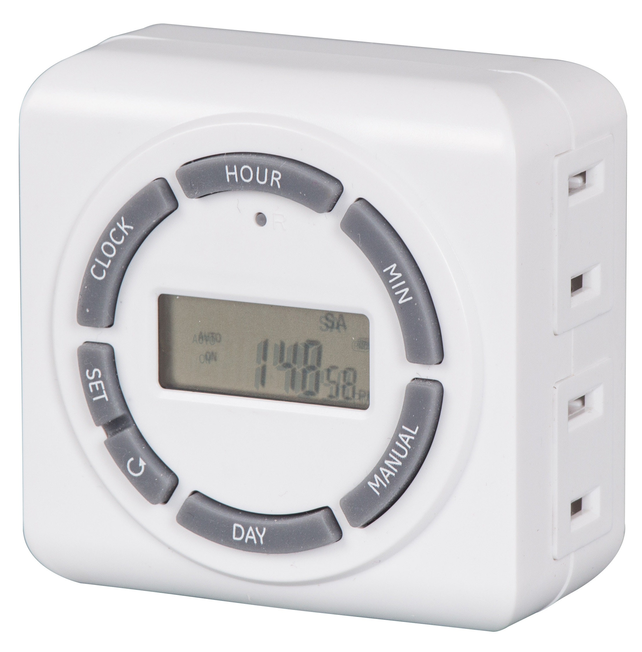 2-outlet digital indoor timer socket