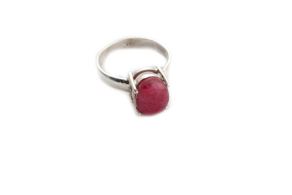 92.5 sterling silver Ruby Ring