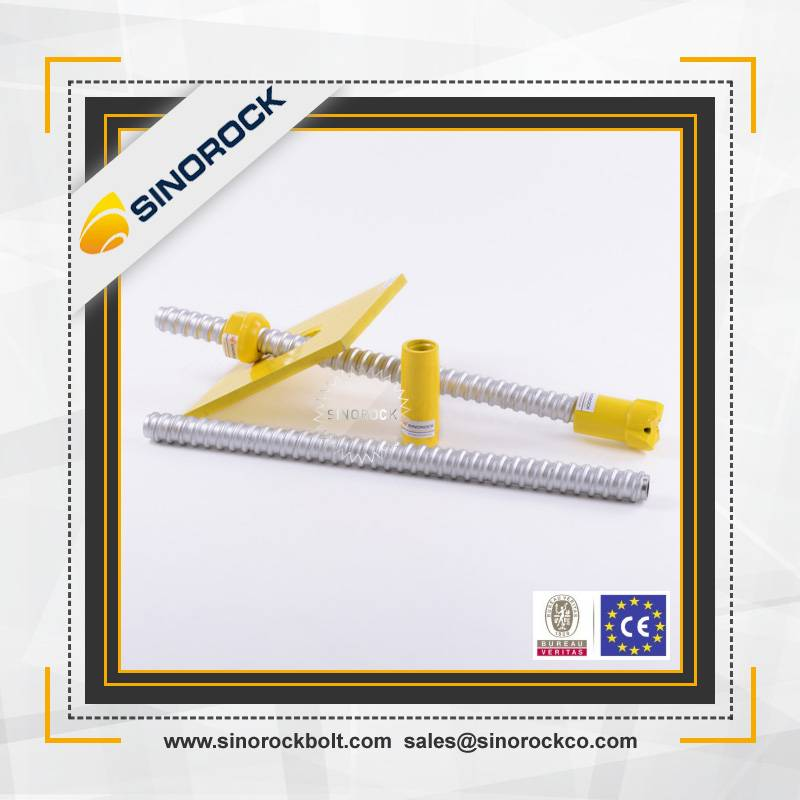 SINOROCK civil engineering tools self-drilling steel anchor bolt
