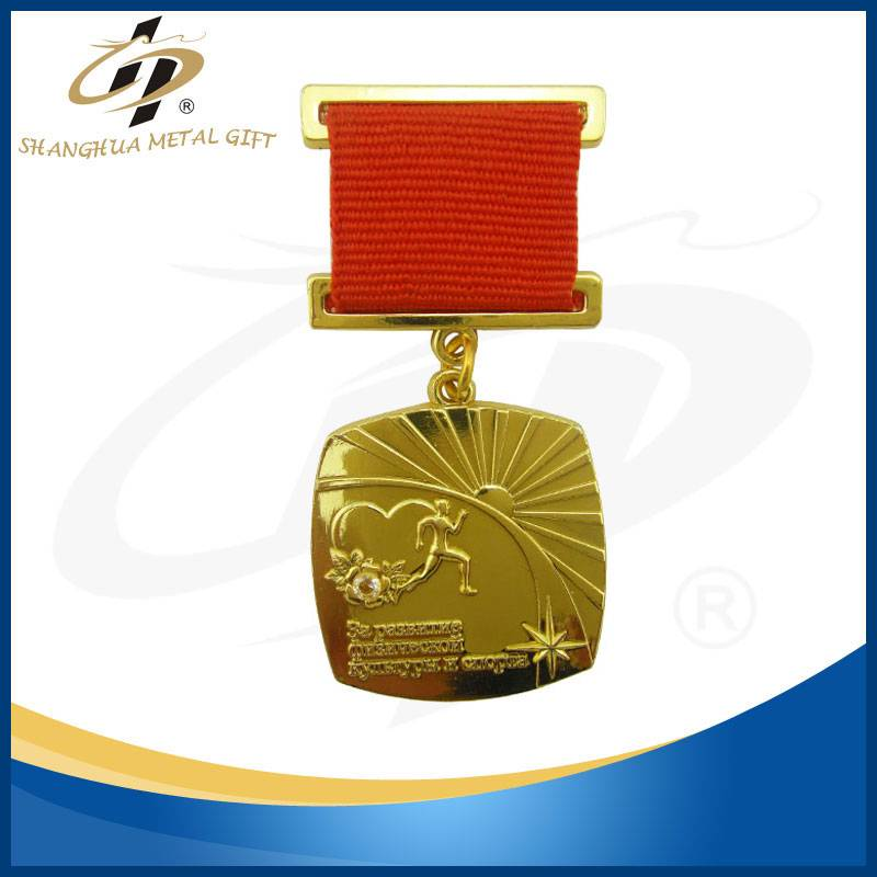 2016 Best selling china manufacturer customized award medallion with diamond