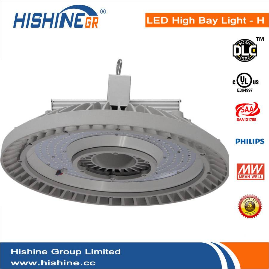 New Style UL DLC SAA 200W UFO LED High Bay Light Meanwel HLG driver