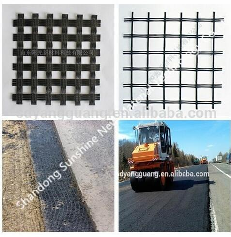 Geogrids Type and Fiberglass Material Fiber-glass geogrid 40-40kn to Pakistan