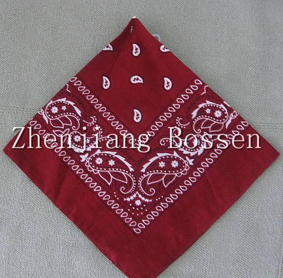 Promotional paisley printing bandana screen printing big handkerchief