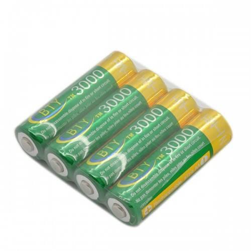4pcs AA 1.2V 3000mA Ni-MH Rechargeable Battery