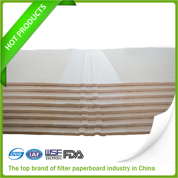 Filter board made up of wood pulp and cotton pulp