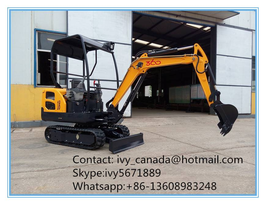 China factory Promotion 1.8Ton Mini Excavator with Canopy /Cabin