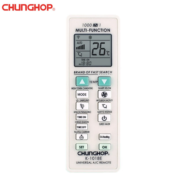Chunghop K-1018E 1000 in 1 Universal Air Conditioner Remote Control
